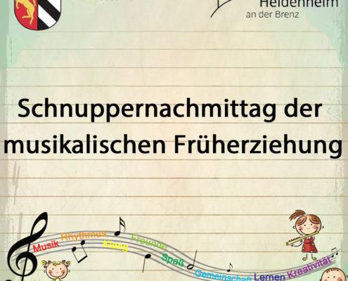 Schnuppernachmittag der musikalischen Früherziehung